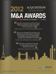 Acquisitions International magazine AI 2012 M&A Awards features interview with Conduit Consulting founder and Managing Director Jillian Alexander