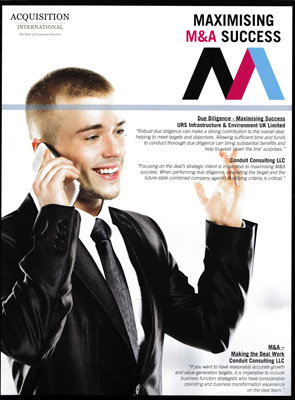 "Acquisitions International magazine 2014 Q1 Review edition features ""M&A: Making the Deal Work"" article by Conduit Consulting founder and Managing Director Jillian Alexander"
