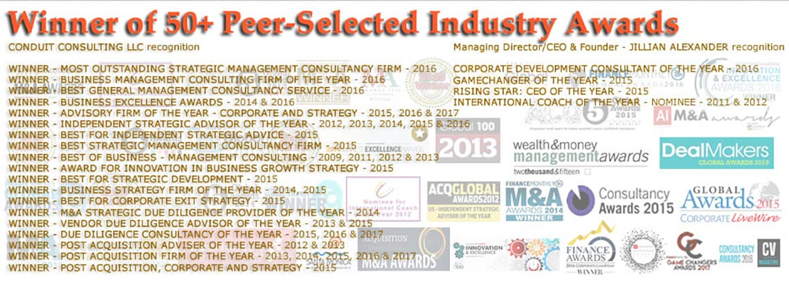 Conduit Consulting Peer Selected Awards