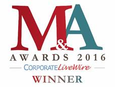 WINNER -- Excellence in Corporate Strategic Advisory Services